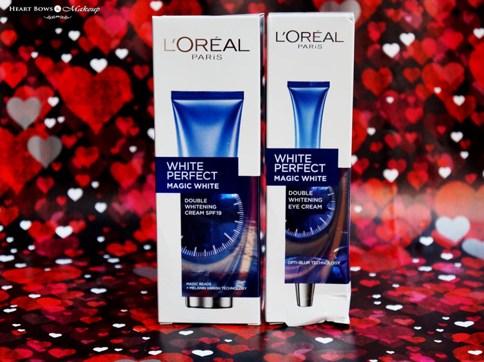 L'Oreal Paris White Perfect Magic White Double Whitening Cream & Eye Cream Review Price Buy Online India