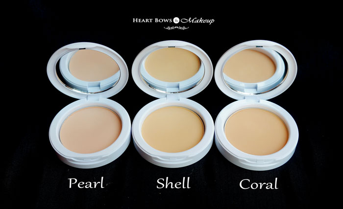 Maybelline White Super Fresh Compact Powder Pearl Shell Coral Review Swatches