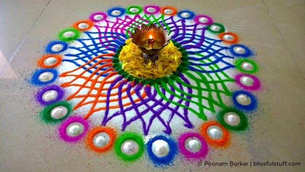 Sanskar Bharti Rangoli Design For Diwali