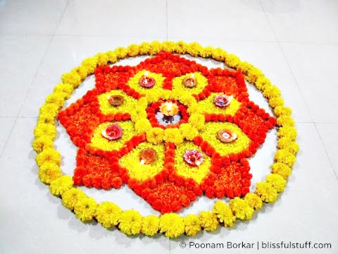 Simple Flower Rangoli Pictures