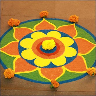 Top Rangoli Designs For Diwali 2015 Heart Bows amp Makeup