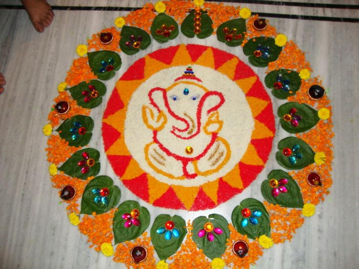 Simple Rangoli Design Images 2015