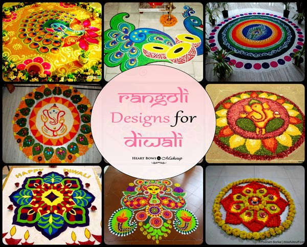 Simple Unique Rangoli Designs For Diwali Images