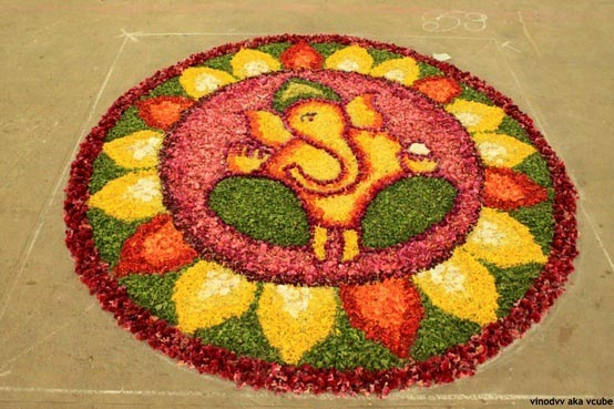 Unique Ganesha Rangoli Design Images