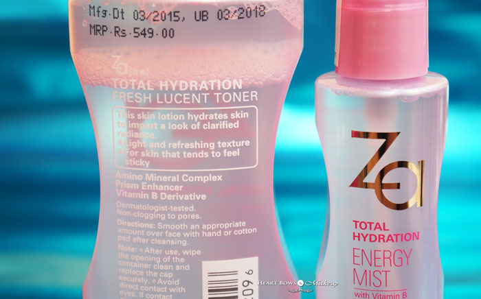Affordable Facial Spray India ZA Total Hydration Energy Mist Review