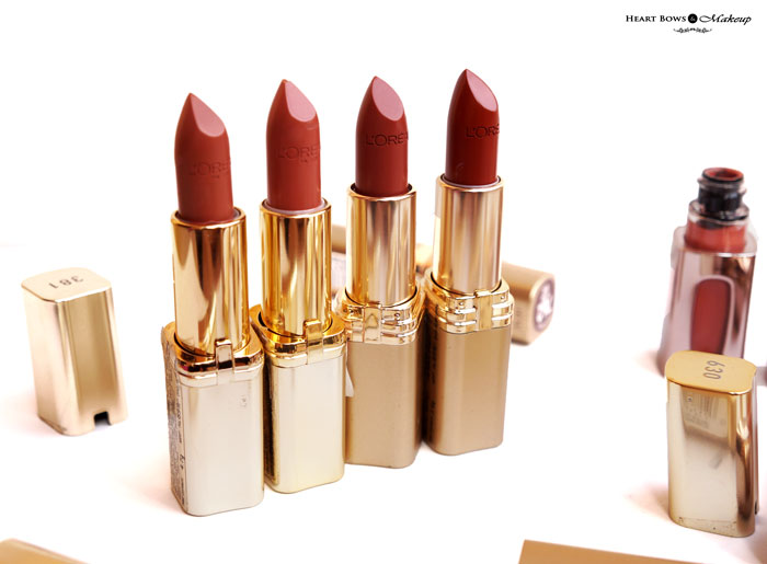 Best L'Oreal Paris Brown Lipstick Review Swatches