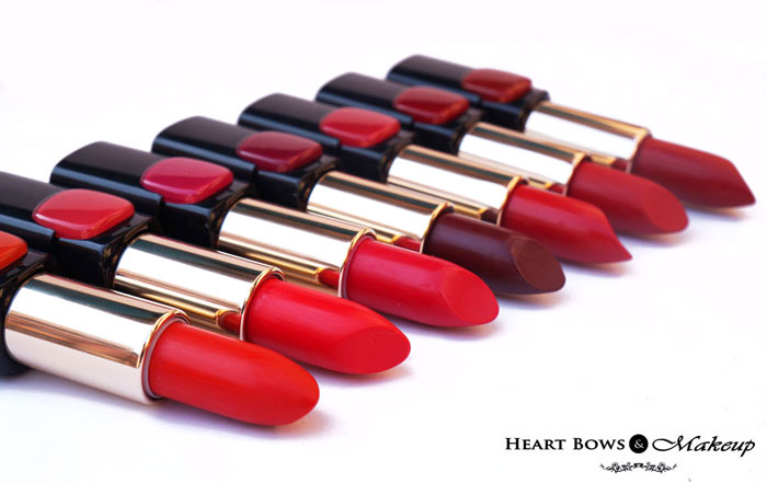 Best Makeup Beauty Products 2015 India L'Oreal Collection Star Red Lipsticks