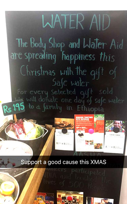The Body Shop WaterAid Campaign
