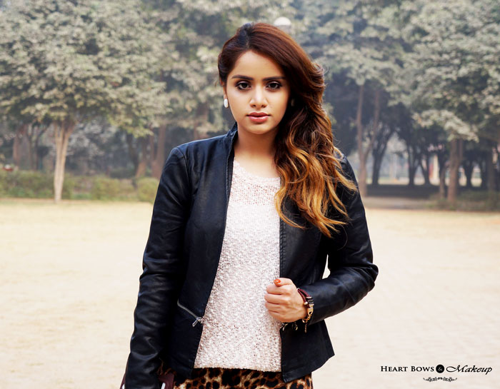 Indian Beauty Blog Feat Vero Moda Black Leather Jacket
