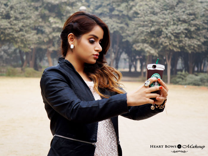 Indian Beauty Blogger Clicking A Selfie