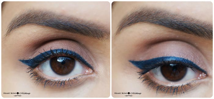 MAC Fluidline Pen Indelibly Blue Review Swatches EOTD