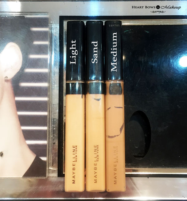 Maybelline Fit Me Concealer Light Sand Medium Review Swatches Price India