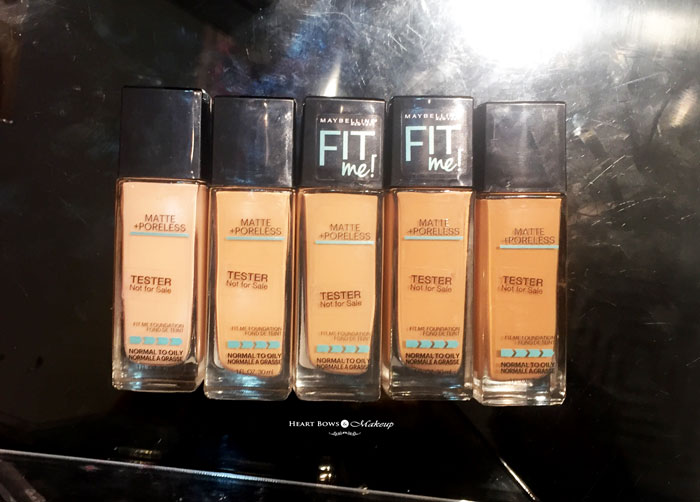 Maybelline Fit Me Matte + Poreless Foundation Swatches Review Price India