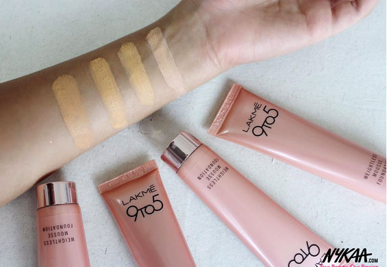 New Lakme 9 To 5 Weightless Mousse Foundation Review Shades Swatches Price