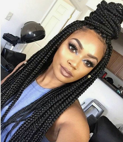 Outstanding Cute Box Braid Hairstyles How To Make Them Heart Bows Amp Makeup Short Hairstyles For Black Women Fulllsitofus