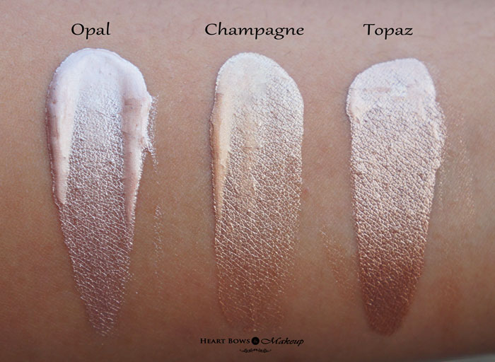 Faces Ultime Pro Metaliglow Review Swatches Opal Champagne Topaz