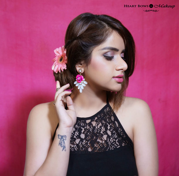 Indian Beauty Blogger Pink Party Makeup Tutorial