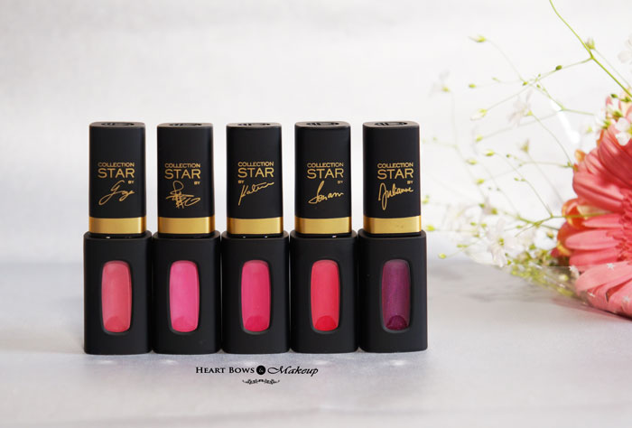 L'Oreal Paris Collection Star Pink Lip Colors Review Swatches Price Buy Online India