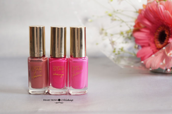 L'Oreal Paris Collection Star Pink Nail Polish Review Swatches Price Buy India