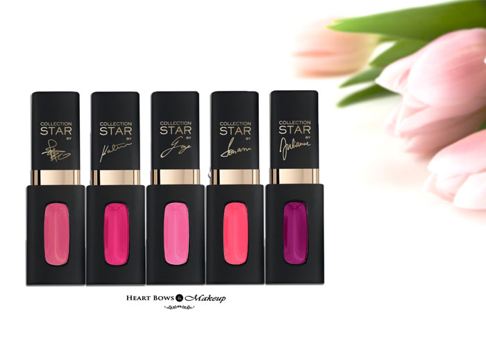 L'Oreal Paris Color Riche Collection Star Pink Mat Lip Colors Review Swatches Price Buy Online India