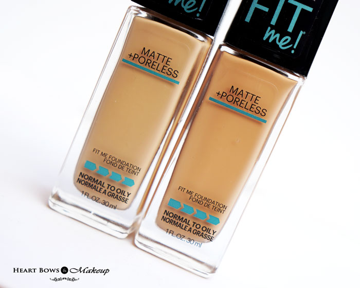 Maybelline Fit Me Foundation 128 Warm Nude 230 Natural Buff Review Swatches