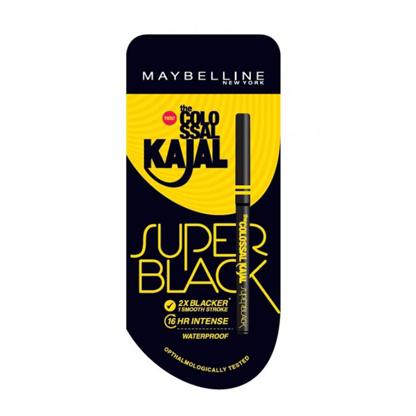New Maybelline Colossal Kajal Super Black Review Swatches Price Buy Online India