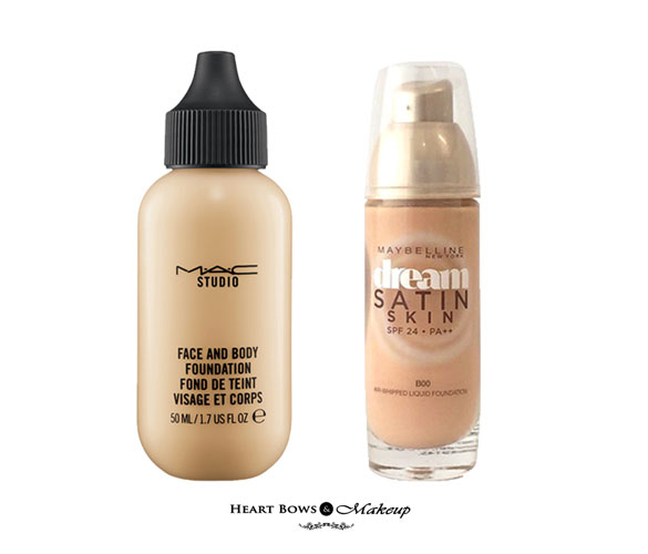 Thick foundation for dry skin