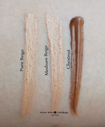 L.A. Girl Pro HD Concealer Pure Beige Medium Beige Chestnut Swatches Review