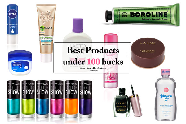 Best Affordable Beauty &Makeup Products Under Rs 100 India