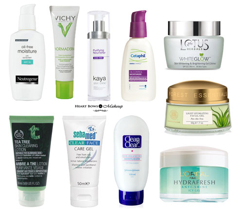 Best Moisturizer & Face Cream For Oily Skin in India: Our Top 10! - Heart Bows & Makeup