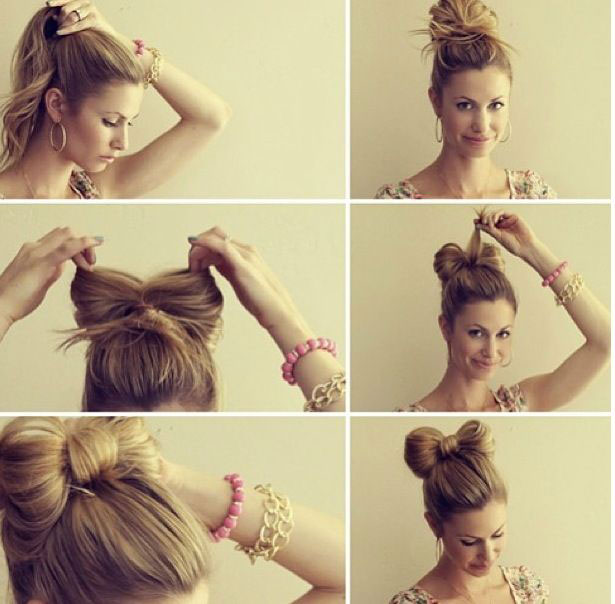 Astounding Easy Bun Hairstyle Tutorials For The Summers Top 10 Heart Bows Short Hairstyles Gunalazisus