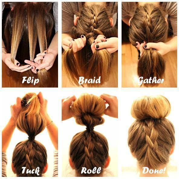 Cute Summer Hairstyles Braid Top Knot Tutorial