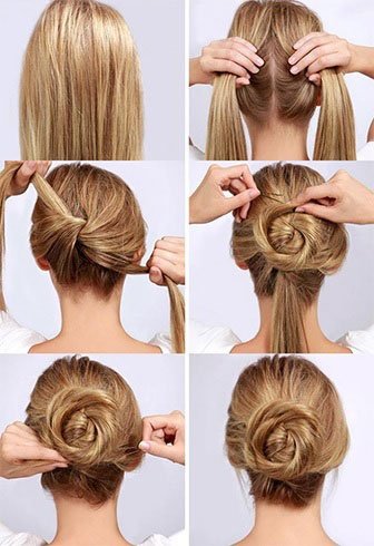 Admirable Easy Bun Hairstyle Tutorials For The Summers Top 10 Heart Bows Hairstyles For Women Draintrainus
