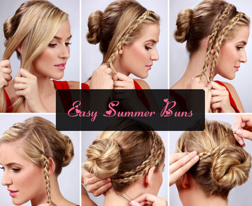 Admirable Easy Bun Hairstyle Tutorials For The Summers Top 10 Heart Bows Short Hairstyles Gunalazisus