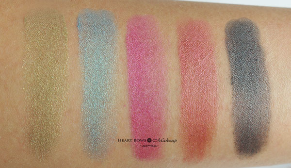 Faces Stackables Pigment Whish Swatches Review