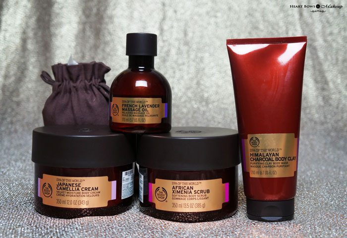 The Body Shop Spa Of The World Relaxing Range Products Review Price Buy Online India