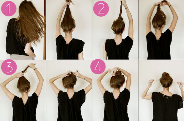 Marvelous Easy Bun Hairstyle Tutorials For The Summers Top 10 Heart Bows Hairstyle Inspiration Daily Dogsangcom