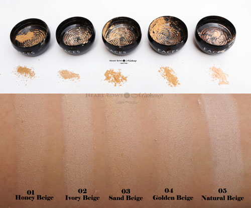 Faces Ultime Pro Mineral Powder Foundation Review Swatches Shades
