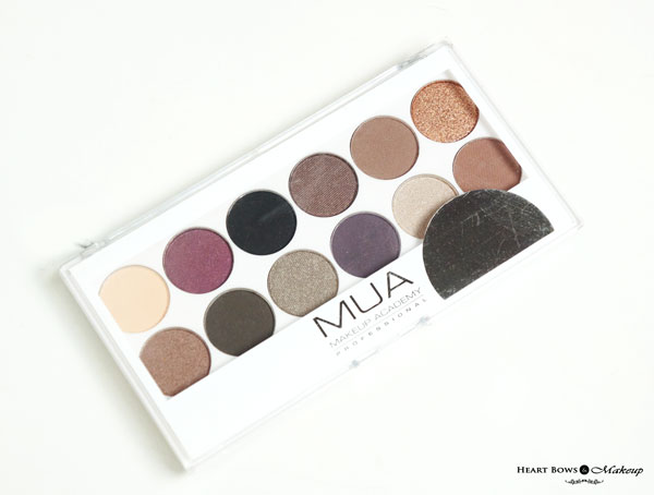 MUA Eyeshadow Palette Romantic Efflorescence Review Swatches Price Buy India