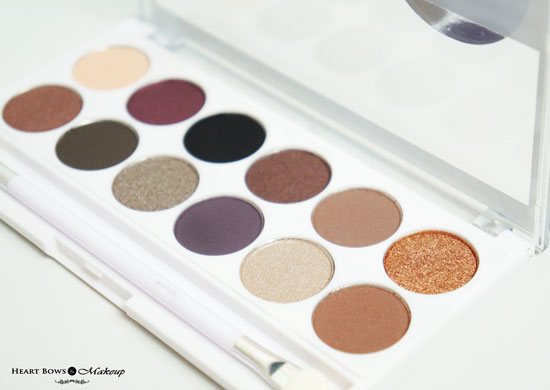 MUA Romantic Efflorescence Eyeshadow Palette Review Swatches