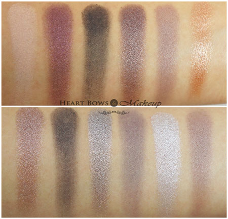 MUA Romantic Efflorescence Palette Swatches Review