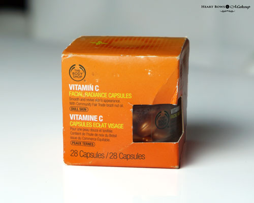 The Body Shop Vitamin C Facial Radiance Capsules Review Price Buy Online India