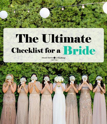The Best Checklist Guide For A Bride To Be