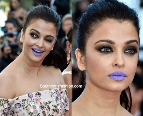 Which Purple Lipstick Did Aishwarya Rai Use At Cannes 2016