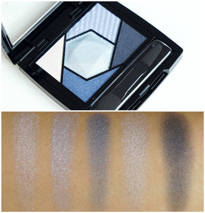 Maybelline Color Sensational Diamond Eyesahdow Palette Sapphire Blue Review Swatches