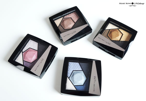 Maybelline Color Sensational Diamond Eyeshadow Palettes Shades Review Swatches