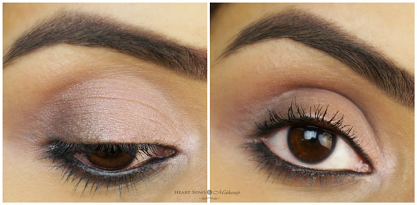 Maybelline The Blushed Nudes Eye Palette EOTD Swatches Review