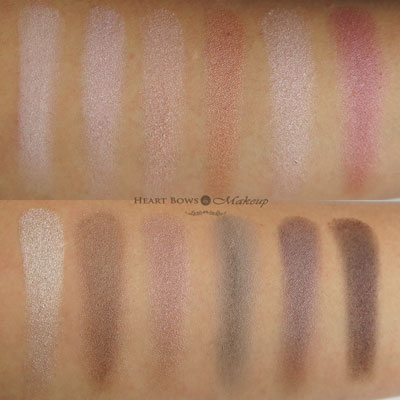 Maybelline The Blushed Nudes Palette Swatches Review