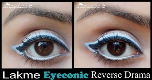 Lakme Eyeconic White Kajal Review, Swatches & Eyemakeup