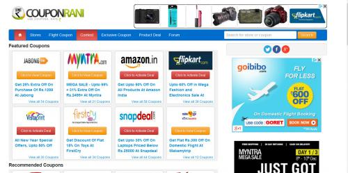 CouponRani- The best place to save money while shopping online!